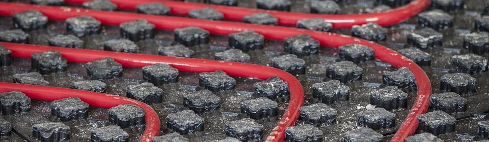 Rode vloerverwarming